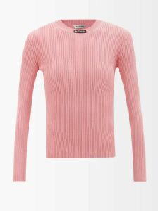 Gucci - Floral Check Print Ruffled Silk Crepe Gown - Womens - Green Multi