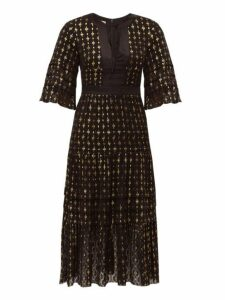 Temperley London - Suki Metallic Fil Coupé Midi Dress - Womens - Black Multi