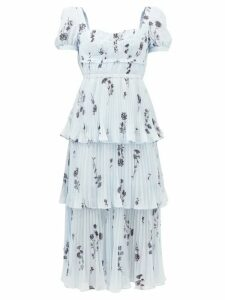 Temperley London - Suki Metallic Fil Coupé Midi Dress - Womens - Light Pink