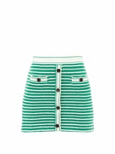 Erdem - Gracelyn Floral Print Crepe Midi Dress - Womens - Navy Print