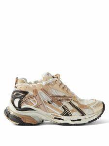 Erdem - Carvella Cape Sleeve Floral Print Silk Blouse - Womens - Pink Print