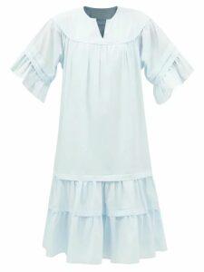 Erdem - Annalee Floral Print Crepe Dress - Womens - Green Print