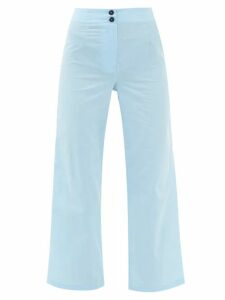 Erdem - Caralina Floral Print Midi Dress - Womens - Green Print