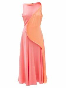 Emilia Wickstead - Ludovica Keyhole Slit Wool Crepe Midi Dress - Womens - Light Blue