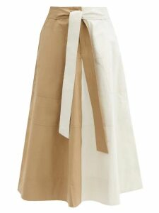 Sara Battaglia - Zebra Print Satin Lapel Velvet Blazer - Womens - Black White