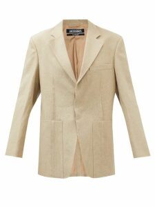 Rochas - Passiflora Cotton Blend Gabardine Midi Skirt - Womens - Beige