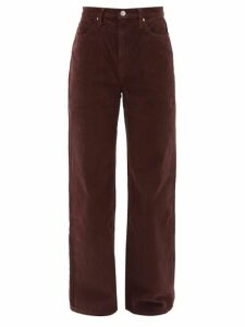 Rochas - High Rise Technical Twill Midi Skirt - Womens - Green