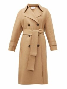 Harris Wharf London - Double Breasted Wool Trench Coat - Womens - Camel