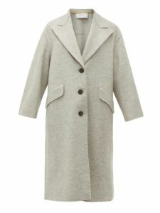Harris Wharf London - Single Breasted Pressed Wool Coat - Womens - Light Grey
