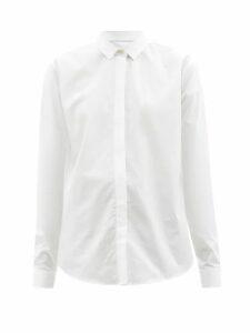 Alexander Mcqueen - Off The Shoulder Knitted Midi Dress - Womens - Dark Pink