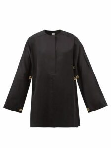 Andrew Gn - Crystal Embellished Floral Brocade Gown - Womens - Black Multi