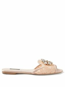Andrew Gn - Puffed Sleeve Foliage Jacquard Gown - Womens - Pink Multi