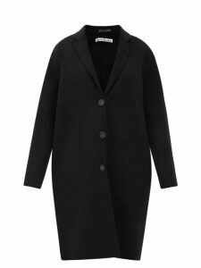 Miu Miu - Button Front Denim Midi Skirt - Womens - Light Blue