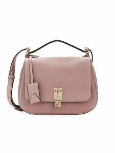 Pebbled Leather Saddle Bag