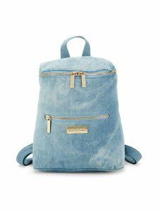 Top Zip Denim Backpack