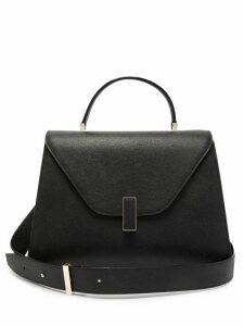 Valextra - Iside Large Leather Top Handle Bag - Womens - Black