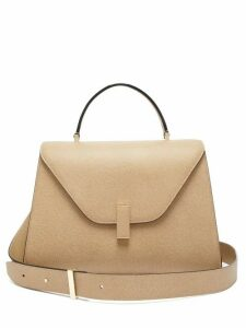 Valextra - Iside Large Leather Top Handle Bag - Womens - Beige