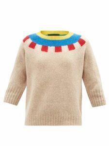 Burberry - Tb Print Leather Cross Body Bag - Womens - Orange Multi