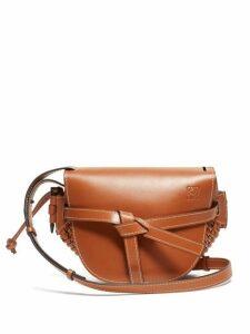 Loewe - Gate Small Woven Leather Cross Body Bag - Womens - Tan