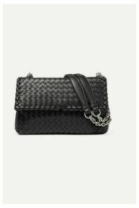 Bottega Veneta - Olimpia Small Intrecciato Leather Shoulder Bag - Black