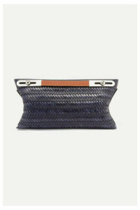 Loewe - Missy Small Woven Textured-leather Shoulder Bag - Navy