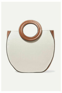 STAUD - Frida Canvas And Leather Tote - Cream