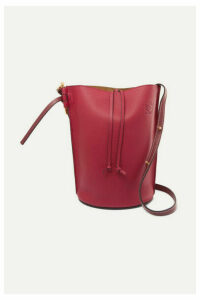 Loewe - Gate Textured-leather Bucket Bag - Burgundy