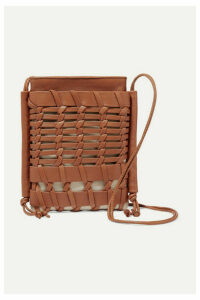 HEREU - + Net Sustain Trena Mini Woven Leather And Organic Cotton-canvas Shoulder Bag - Tan