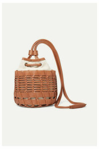 HEREU - + Net Sustain Siana Leather And Organic Cotton-canvas Bucket Bag - Brown
