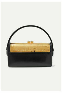 Bienen-Davis - Régine Textured-leather And Gold-dipped Tote - Black