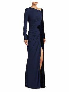 Velvet Jersey Gown