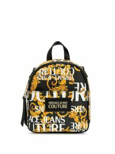 Versace Jeans Couture barocco print backpack - Black