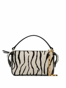 Wandler zebra print mini Yara box bag - White