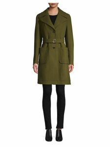Virgin Wool Trench Coat