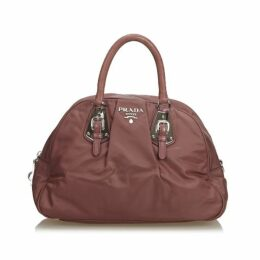 Prada Red Nylon Handbag