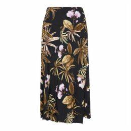 Vince Printed Satin-crepe Skirt