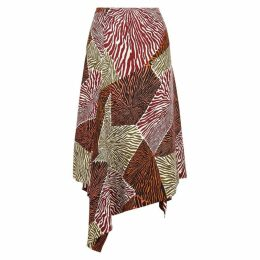 BY MALENE BIRGER Dharma Printed Satin Midi Skirt