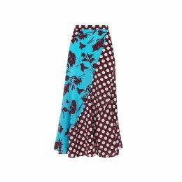 Kitri Callista Mixed Print Midi Skirt