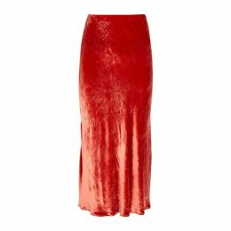Bec & Bridge Velveteen Dream Bias-cut Midi Skirt