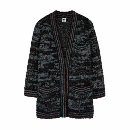 M Missoni Metallic-knit Tweed Cardigan