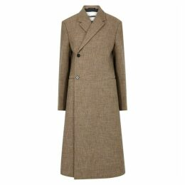 Jil Sander Lee Brown Llama-blend Coat