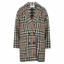 RED Valentino Houndstooth Wool-blend Bouclé Coat