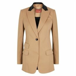 Altuzarra Hirst Leather-timmed Wool Blazer