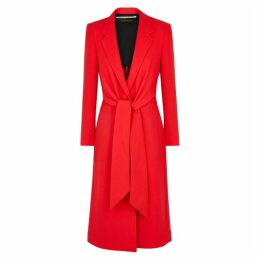 Roland Mouret Hollywell Red Wool Crepe Coat
