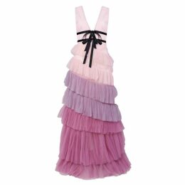 True Decadence Lilac Ombre Tiered Tulle Maxi Dress