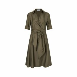 Jigsaw Poplin Wrap Tie Dress