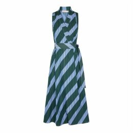 Tory Burch Striped Cotton Wrap Dress