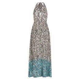 Heidi Klein Mombasa Python-print Maxi Dress