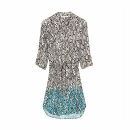 Heidi Klein Mombasa Python-print Shirt Dress