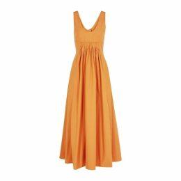Three Graces Laurette Rust Cotton Dress